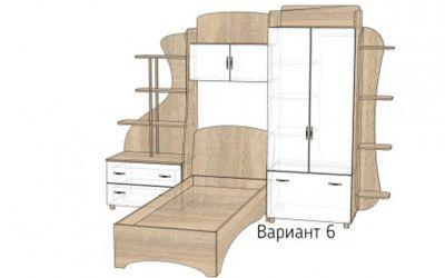Кровать-горка «Д4/6Р» меламин