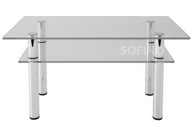 Журнальный стол «JTS 012» 100*50 (Прозрачный)