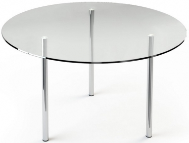 Стол обеденный «R1» D 90 (Прозрачный)