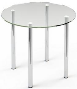 Стол обеденный «R3» D 90 (Прозрачный)