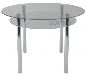 Стол обеденный «R4» D 90 (Прозрачный)