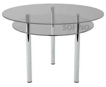 Стол обеденный «R2» D 90 (Прозрачный)