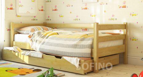 Кровать детская Арина | л-117| 80*200 | с ящиками | белый