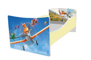 Кровать детская «Kinder-Самолетики» без ящиков 70*140