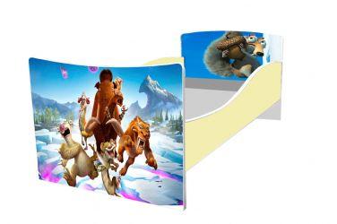 Кровать детская «Kinder-Ледниковый периорд» без ящиков 70*140