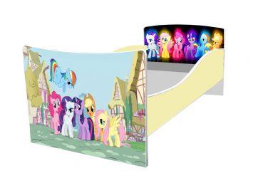 Кровать детская «Kinder-My litle pony» без ящиков 70*140