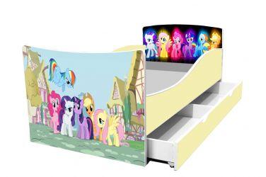 Кровать детская «Kinder-My litle pony» с ящиком 70*140