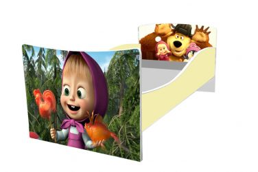 Кровать детская «Kinder-Маша и Медведь» без ящиков 70*140