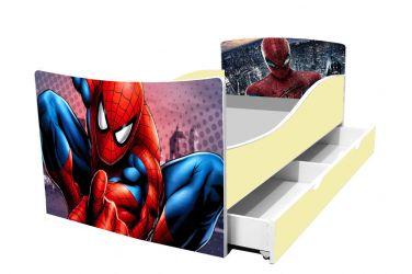 Кровать детская «Kinder-Спайдермен» с ящиком 70*140