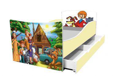 Кровать детская «Kinder-Простоквашино» с ящиком 70*140