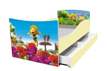 Кровать детская «Kinder-Пчелка майя» с ящиком 70*140