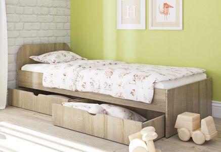 Ліжко дитяче Пехотін Соня 1 ДСП з шухлядами