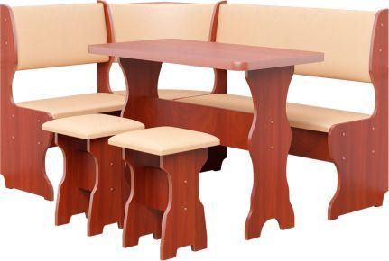 Фото Кухонный уголок со столом и 2 табуретами «Барон» - sofino.ua