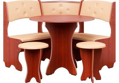 Фото Кухонный уголок «Боярин» с табуретами и простым столом 80*80 - sofino.ua