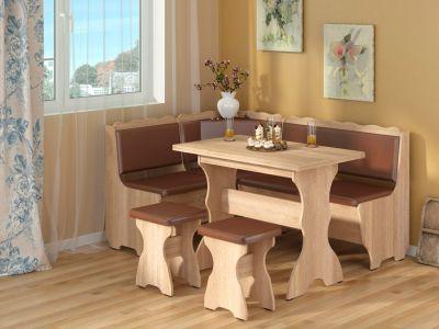 Фото Кухонний куток «Граф» з 2 табуретами та простим столом 100*60 - sofino.ua