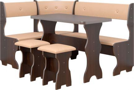 Фото Кухонный уголок «Принц» с табуретами и простым столом 100*60 - sofino.ua