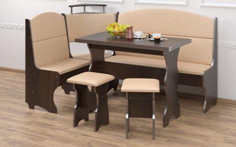 Кухонный уголок со столом и 2 табуретами «Сенатор»
