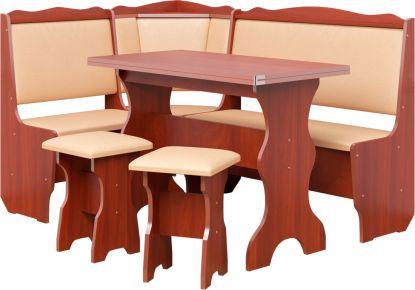 Фото Кухонный уголок «Фараон» с табуретами и простым столом 100*60 - sofino.ua