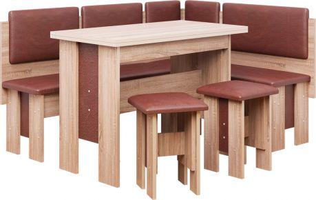 Фото Кухонный уголок со столом и 2 табуретами «Аристократ»  - sofino.ua