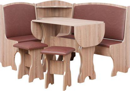 Фото Кухонный уголок со столом и 2 табуретами «Виконт» - sofino.ua