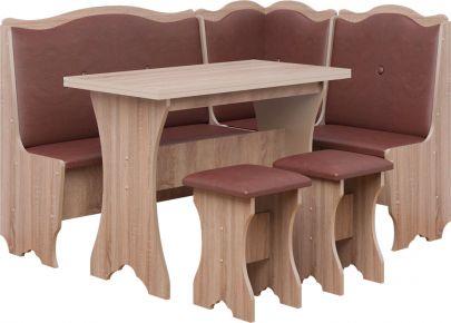 Фото Кухонный уголок со столом и 2 табуретами «Герцог» - sofino.ua