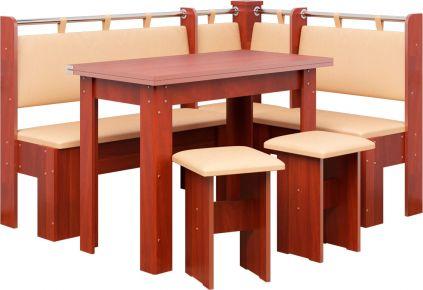 Фото Кухонный уголок «Гетьман» с табуретами и простым столом 80*60 - sofino.ua