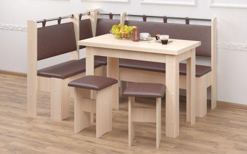 Кухонный уголок со столом и 2 табуретами «Гетьман»