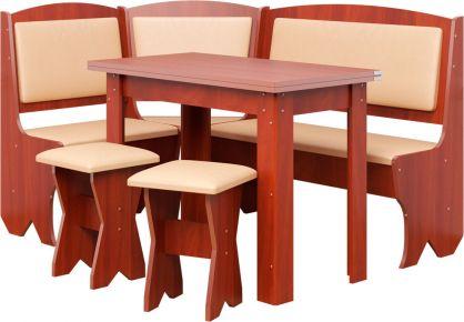 Фото Кухонный уголок «Император» с табуретами и простым столом 80*60 - sofino.ua