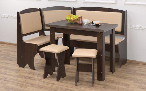 Кухонный уголок со столом и 2 табуретами «Император»