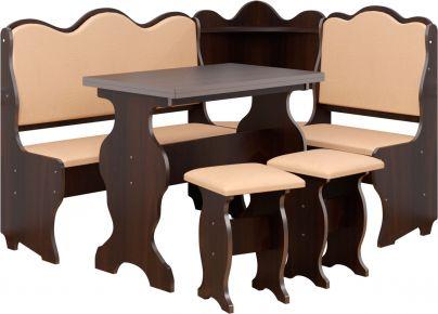 Фото Кухонный уголок «Корнет» с табуретами и простым столом 80*60 - sofino.ua