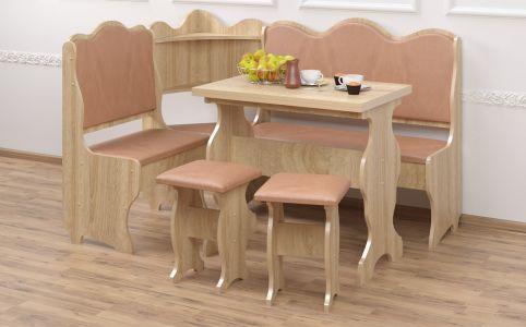 Кухонный уголок со столом и 2 табуретами «Корнет»