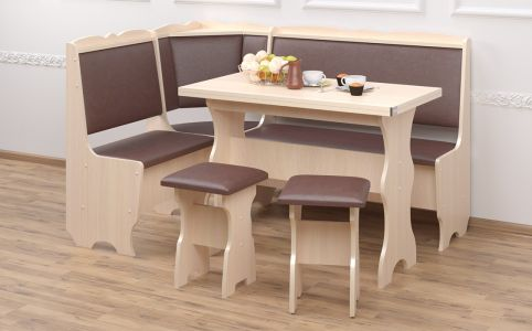 Кухонный уголок со столом и 2 табуретами «Лорд»