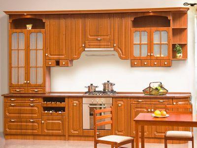 Фото Кухня пряма Світ меблів Валенсія матова (МДФ Горіх) 372 см - sofino.ua