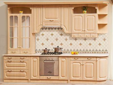 Фото Кухня пряма Світ меблів Валенсія матова (МДФ Клен) 322 см - sofino.ua