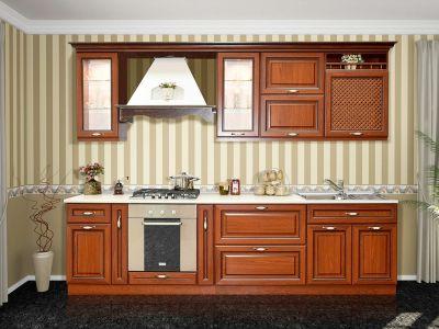 Фото Кухня пряма Світ меблів Роксана матова (МДФ Прованс темний) 280 см - sofino.ua
