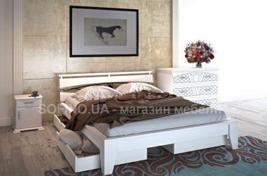 Кровать «Венеция» с ковкой 140*190 | 2 ящика | белый