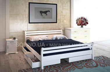 Кровать «Ретро» 140*190 | 2 ящика | белый