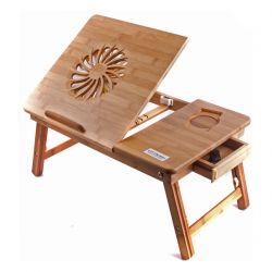 Фото Бамбуковый столик для ноутбука «T25» - sofino.ua
