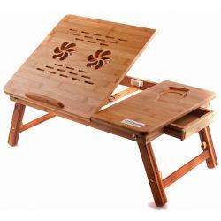 Фото Бамбуковый столик для ноутбука «T26» - sofino.ua