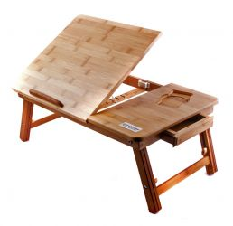 Фото Бамбуковый столик для ноутбука «T27» - sofino.ua
