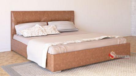 Кровать-подиум «Ирена» 140*190 | Кожзам