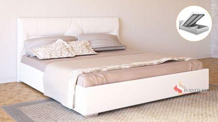 Кровать-подиум белая «Ирена» с подъемным механизмом 140*190
