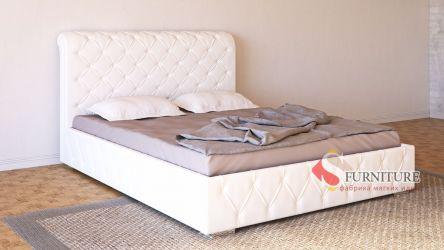 Кровать-подиум белая «Алиция» 140*190