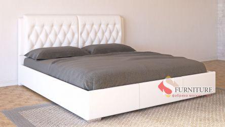 Кровать-подиум белая «Моника» 140*190