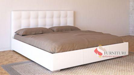 Кровать-подиум белая «Барбара»
