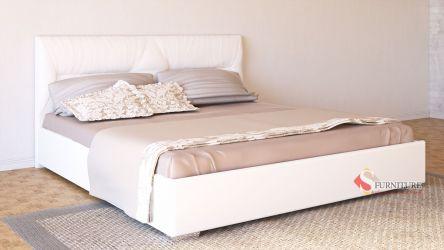 Кровать-подиум белая «Ирена» 140*190