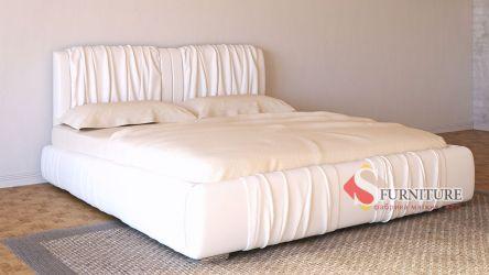 Кровать-подиум белая «Шарлотта» 140*190