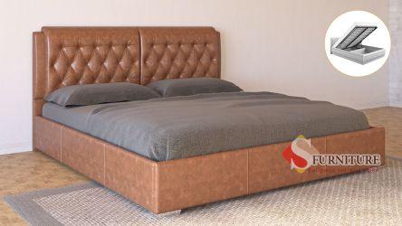 Кровать-подиум «Моника» с подъемным механизмом 140*190 | Кожзам