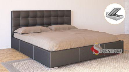 Кровать-подиум «Барбара» с подъемным механизмом 140*190 | Кожзам