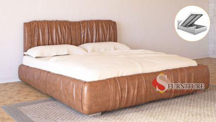 Кровать-подиум «Шарлотта» с подъемным механизмом 140*190 | Кожзам